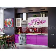 Кухня фотопечать Орхидея  МДФ Миф