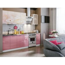 Кухня фотопечать Вишневый цвет МДФ Миф